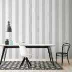 Papel pintado rayas gris y blanco