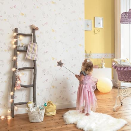 Papel pintado infantil pajaritos My Little World
