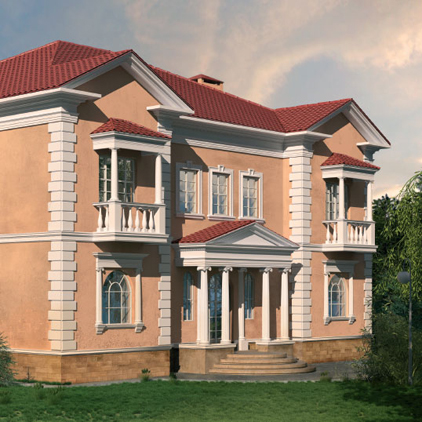 Molduras decorativas para exterior fachada papel pintado - Molduras para fachadas ...