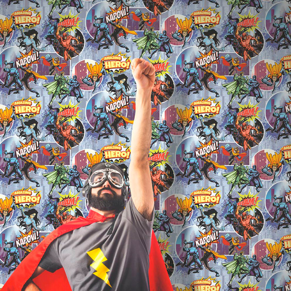Papel pintado comic superheroes Freestyle