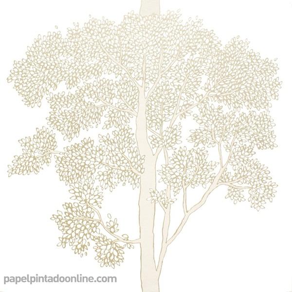 Papel pintado árboles dorados 1679_11_21