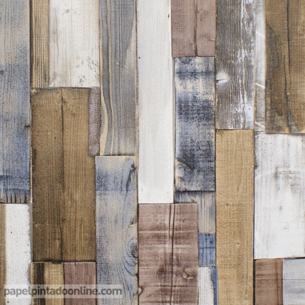 Papel pintado listones de madera 203707