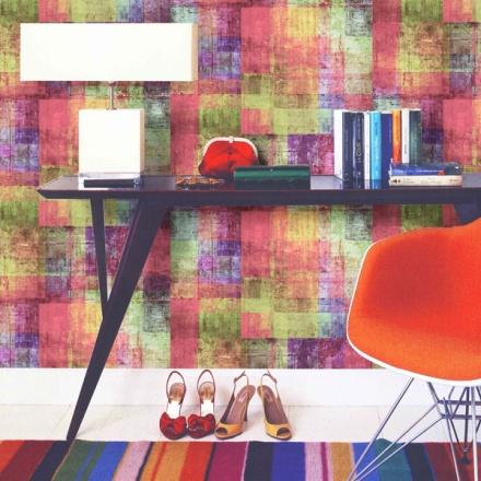Papel pintado cuadros de colores Flow