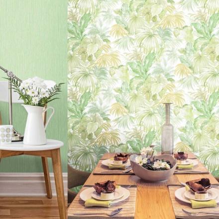 Papel pintado tropical hojas de plátano