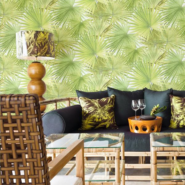 Papel pintado barcelona tienda de papel de pared for Papel pintado hojas verdes
