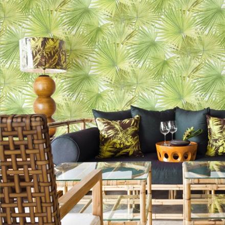 Papel pintado hojas palmera Flow