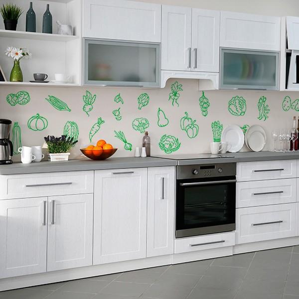 Vinilos decorativos cocinas papel pintado barcelona for Papel pintado vinilico cocina