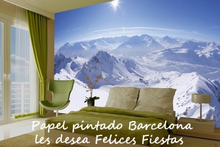 Felices Fiestas, mural Mountain