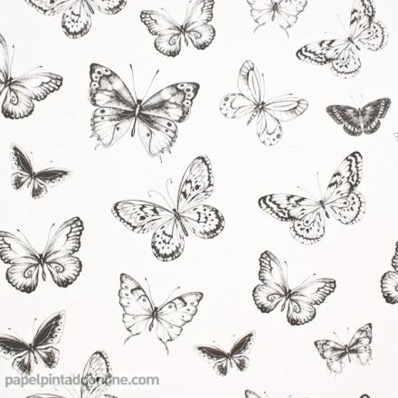 Papel pintado mariposas 955