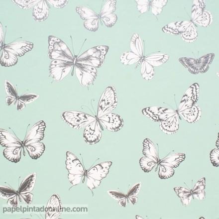 Papel pintado mariposas 957