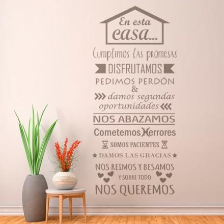 Vinilo Decorativo Texto TE036
