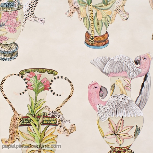 Papel pintado The Ardmore collection Khulu Vases 109-12057