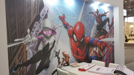 Mural Spiderman en Heimtextil 2018