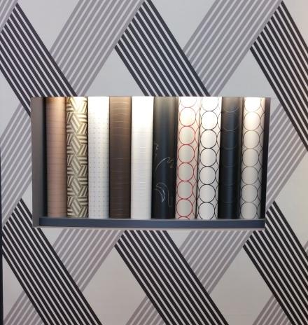 Papeles pintados geométricos exposición Heimtextil 2018