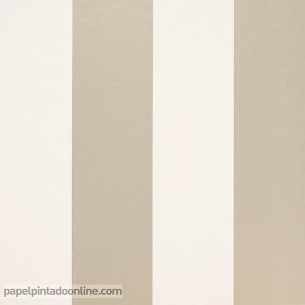 Papel pintado rayas dorada y beige 915