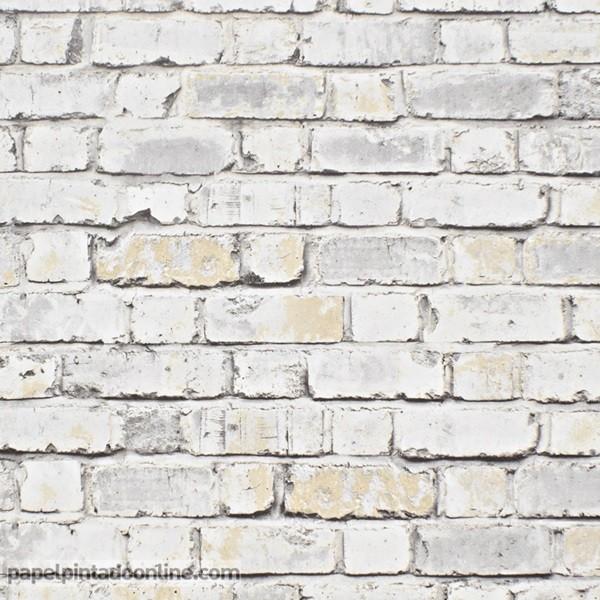 Papel pintado ladrillo papel pintado barcelona - Papel pintado ladrillo blanco ...