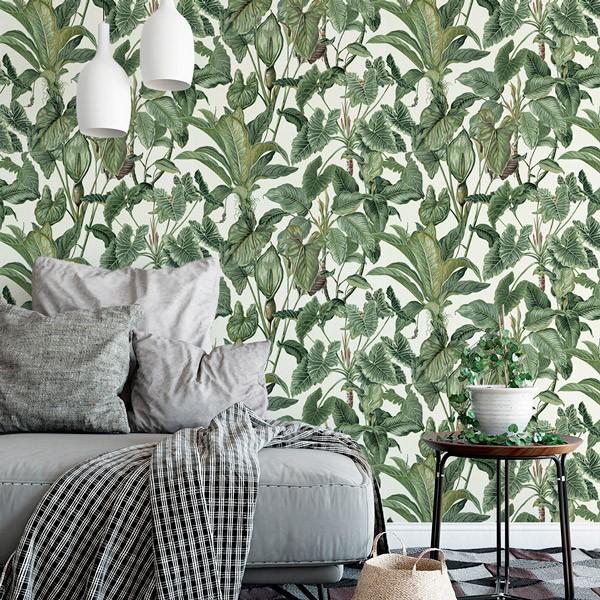 Papel pintado naturaleza hojas tropicales 6303-07