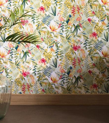 Papel pintado naturaleza tropical Jungle geométrico