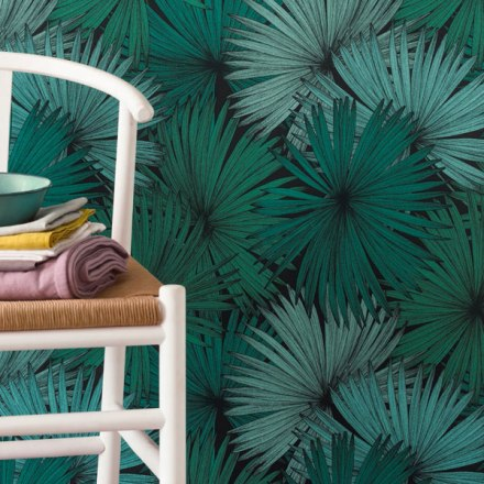 Papel pintado palmeras tropicales Jungle
