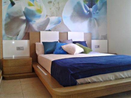 Fotomural floral azul