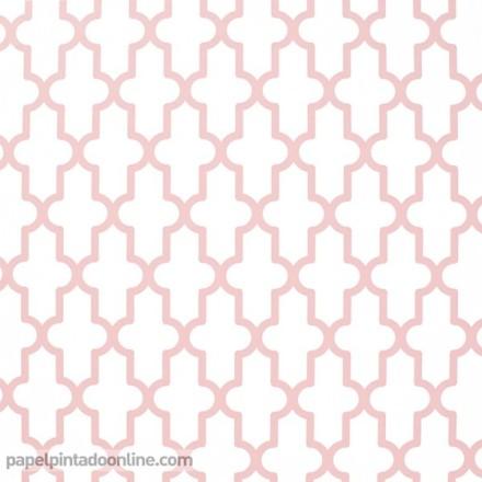 Papel pintado geométrico rosa 024