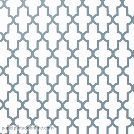 Papel pintado geométrico azul 027