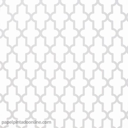 Papel pintado geométrico gris 022