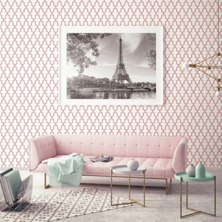 Decorar con un geométrico color rosa referencia 024