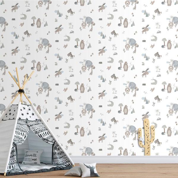 Papel pintado animales selva Sambori