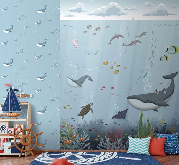 Papel pintado ballenas Sambori