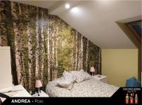 Fotomural bosque decoración dormitorio
