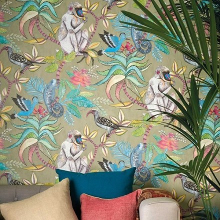 Papel pintado animales y naturaleza exótica
