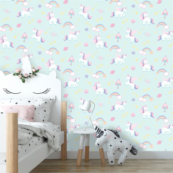 Papel pintado infantil Over The Rainbow