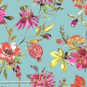 Papel pintado floral 90430