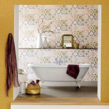 Papel pintado azulejos para baño