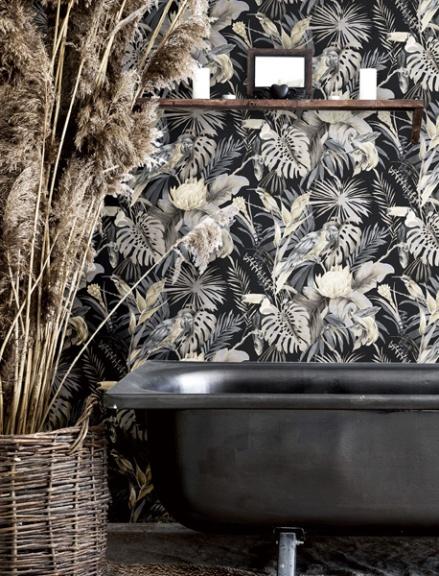 papel pintado plantas tropicales