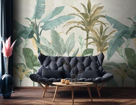 Mural botánico tropical